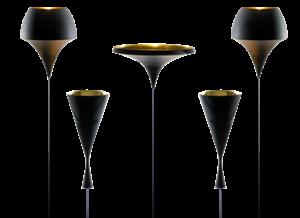Des lampes à l'envers